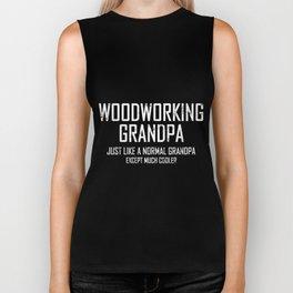 Woodworking Grandpa Biker Tank
