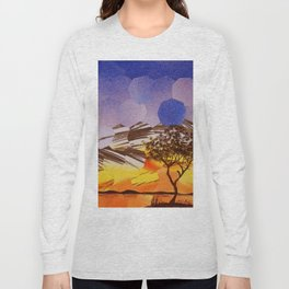 Lavendar Morning with Dove Long Sleeve T-shirt