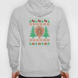 Thanksgiving Ugly Christmas Sweat Funny Turkey T-Shirt Hoody