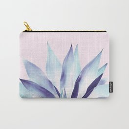 Solar Agave - Pastel blue on pink Carry-All Pouch