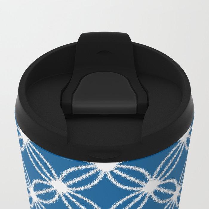 Abstract Circle Dots Metal Travel Mug
