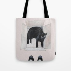 black cat box Tote Bag