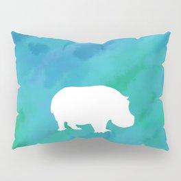 hippo cutout Pillow Sham