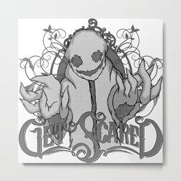 Get Scared Metal Print