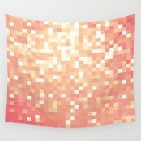 peach Wall Tapestries featuring Peach by WhimsyRomance&Fun