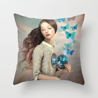 christian Throw Pillows featuring Set Your Heart Free by Christian Schloe