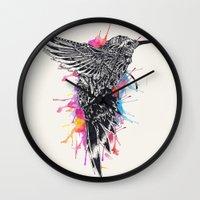 hummingbird Wall Clocks featuring HummingBird by efan