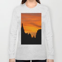 London Sunset in sillouette bywhacky Long Sleeve T-shirt