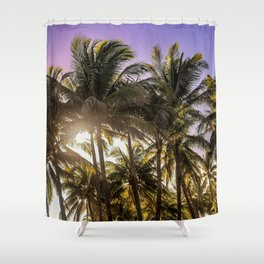 PURPLE AND GOLD SKIES Shower Curtain