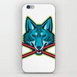 Coyote Ice Hockey Sports Mascot iPhone Skin