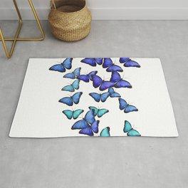 Butterflies Blue Cute Flying Gift Rug