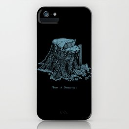 Birth of Pinocchio (black version) iPhone Case