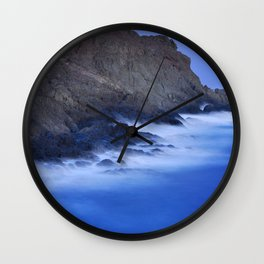 The force of the waves under the moonlight Wall Clock