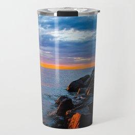 Sunset on Lake Michigan Travel Mug
