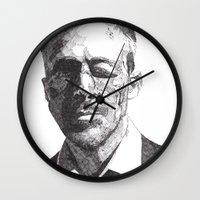 ryan gosling Wall Clocks featuring Ryan by Rik Reimert