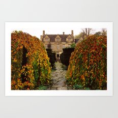 Barnsley House In Autumn Art Print