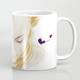 My finger tips are running through her hair, my mind is resting on her lips.. Coffee Mug