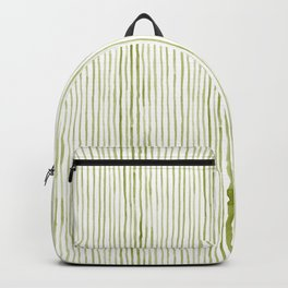 Olive Green Watercolor Stripes Backpack