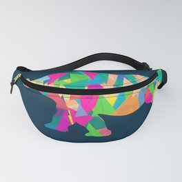 Abstract Rhino Fanny Pack
