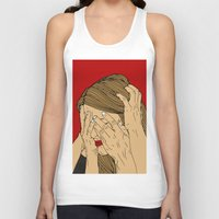 introvert Tank Tops featuring Introvert 5 by Heidi Banford