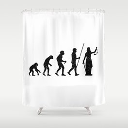 Lady Justice Evolution Lawyer Judge Law Shower Curtain