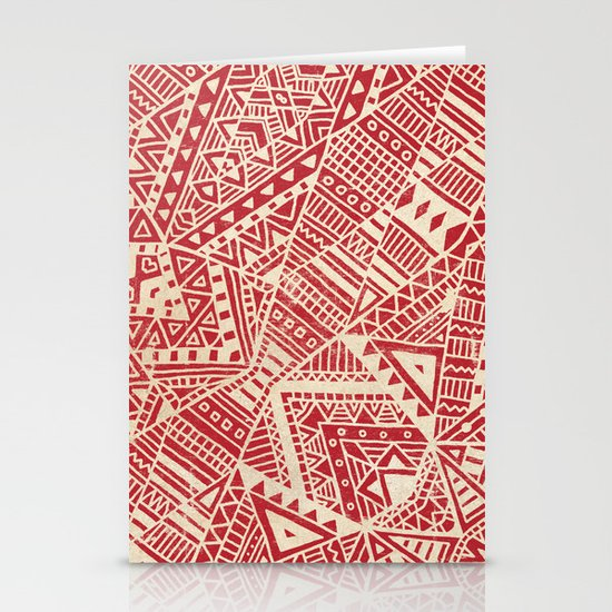 Tribal (red)  Stationery Cards