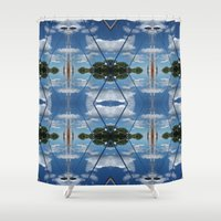 cloud Shower Curtains featuring cloud by Gun Alfsdotter