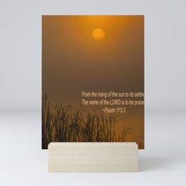 Psalm 113:3 Sunrise Mini Art Print