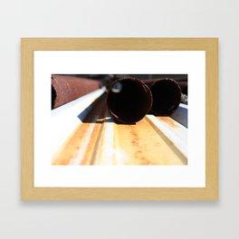 Cylinder Sleeve Framed Art Print