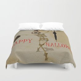 Happy Halloween by Monsieur Bone Duvet Cover