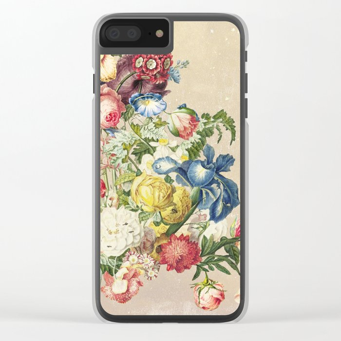 Floral tribute to Louis McNeice (Light) Clear iPhone Case