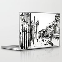 cityscape Laptop & iPad Skins featuring CITYSCAPE by hawwa a
