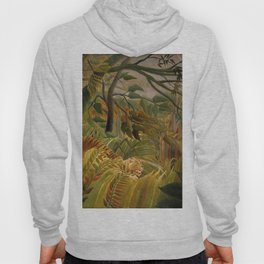 """Henri Rousseau """"Tiger in a Tropical Storm (Surprised!)"""", 1891 Hoody"""
