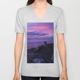 Scenic ocean sunset in Carlsbad California Unisex V-Neck