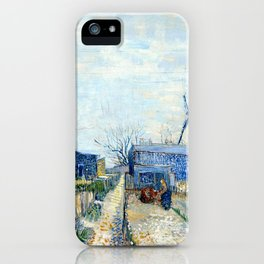 Vincent Van Gogh - Montmatre mills and vegetable gardens iPhone Case