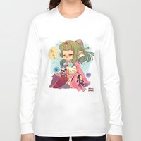 tiki Long Sleeve T-shirts featuring FE-Tiki by Mimiblargh
