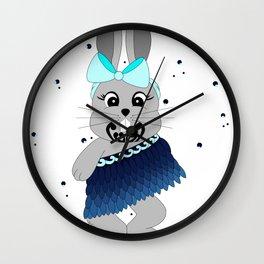 Miss Rapeti (turquoise splash) Wall Clock
