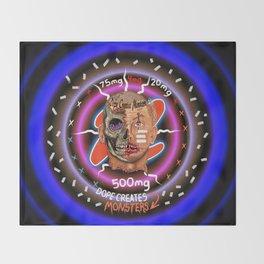 Dope Creates Monsters #3 Throw Blanket