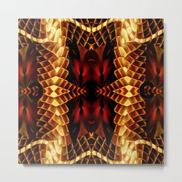 Royalty on Red,Black,Gold,Tan Metal Print
