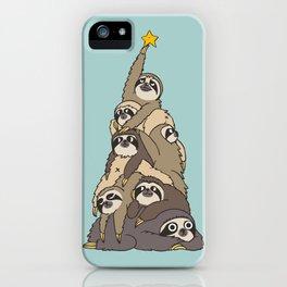 Christmas Tree  Sloths iPhone Case