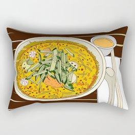 Singapore Laksa Noodle Rectangular Pillow