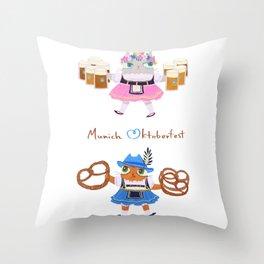 Munich Kitties Throw Pillow