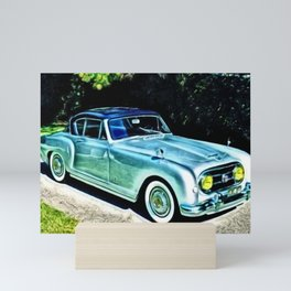Vintage 1954 Nash Healey Lemans Sports Coupe Painting Mini Art Print
