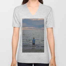 Boy and the Silver Sea Unisex V-Neck