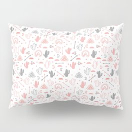 cute cacti in the desert. Pillow Sham