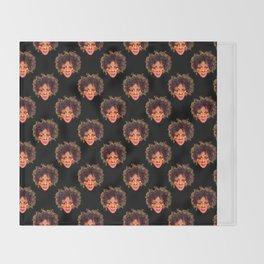 Natural Hair Afro Girl Pastel Throw Blanket