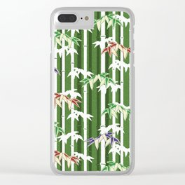 Vintage oriental Bamboo pattern Clear iPhone Case