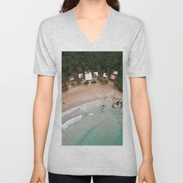 Tropical Summer Beach in The Philippines Unisex V-Neck