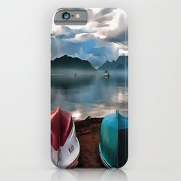 Hulls of Boats And Marmaris Winter Seascape iPhone Case