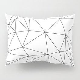 Black and White Geometric Minimalist Pattern Pillow Sham